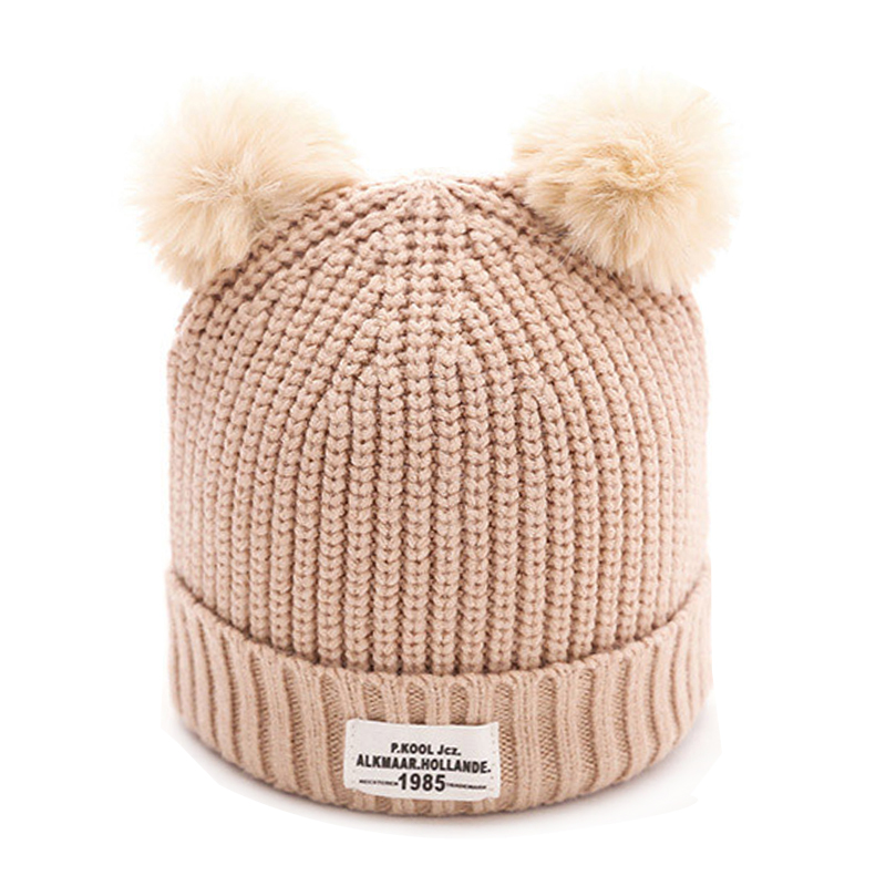 0-12months Kids Winter Hat 2017 Baby Hat Beanie Cap Toddler Infant Baby Girls Boys Knitted Hats Fashion Kids Hats Caps