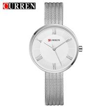 CURREN New Women Fashion Simple style Quartz Watches Stainless Steel Band Wristw