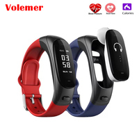 Volemer V08 Wireless Bluetooth Earphone Smart Band 2 in 1 Earband Smart Bracelet Wristband Heart Rate Blood Pressure Monitor