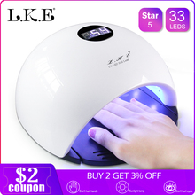 LKE Professional 48W/72W LED Lamp Nail Dryer For Nail Gel Polish Curing Nails Lamp Dryers Art Manicure Automatic sensor US EU