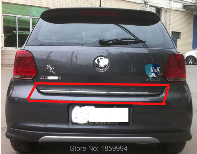 FOR 2011-2016 VW POLO mk5 hatchback REAR TRUNK BOOT TAILGATE DOOR COVER TRIM MOLDING & FOR 2011 2016 VW POLO mk5 hatchback REAR TRUNK BOOT TAILGATE DOOR ...