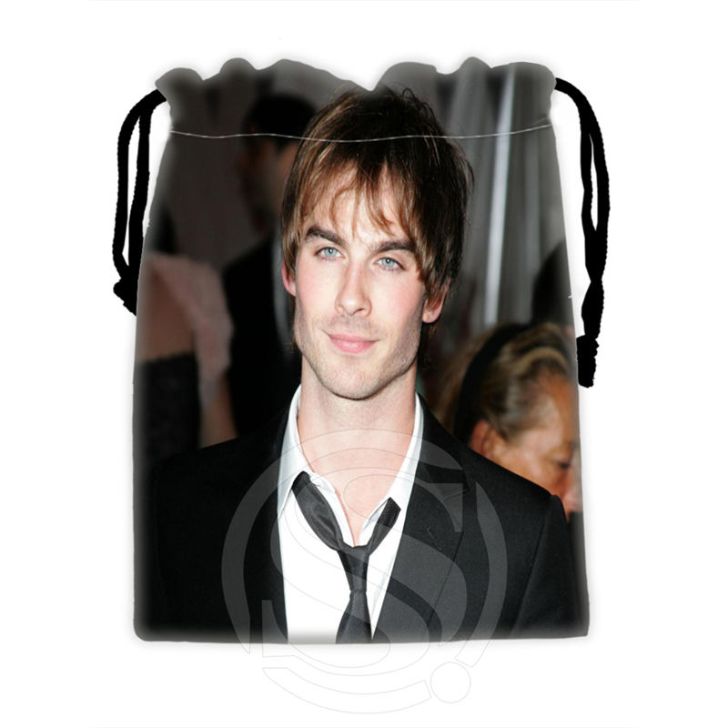 H-P730 Custom Ian Somerhalder#4 Drawstring Bags For Mobile Phone Tablet PC Packaging Gift Bags18X22cm SQ00806#H0730