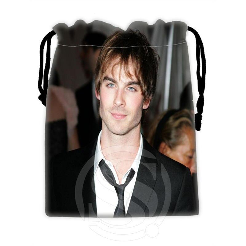 H P730 Custom Ian Somerhalder 4 drawstring bags for mobile phone tablet PC packaging Gift Bags18X22cm