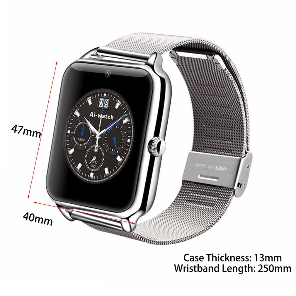Z50 Bluetooth Smart Watch Sleep Monitor Call SMS Sedentary Reminder Smartwatch Support SIM Card TF Pedometer For IOS Android