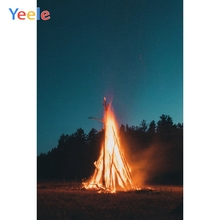 Yeele Landscape Photocall Decor Night Flame Tree Photography Backdrops Personalized Photographic Backgrounds For Photo Studio