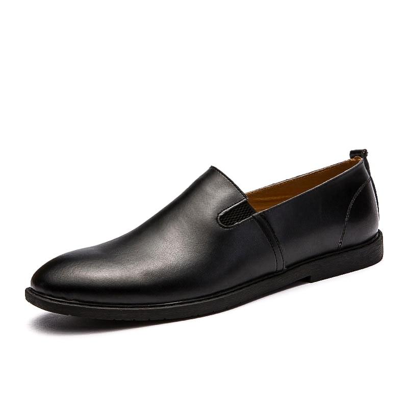 Baixos Casuais Sapatos Pu Se Preto De Vestem Couro Homens 6x54YTqq