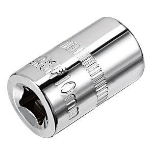 Image 2 - Uxcell 2 Pcs 1/4 zoll Stick 10mm Cr V 6 Punkt Flach Buchse für Schwere  duty Pneumatische Werkzeuge Heißer Verkauf