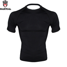 Боевые: новое поступление пустые мужские компрессионные футболки для джиу-джитсу, мужские футболки для бокса, ММА Рашгард, bjj Джерси