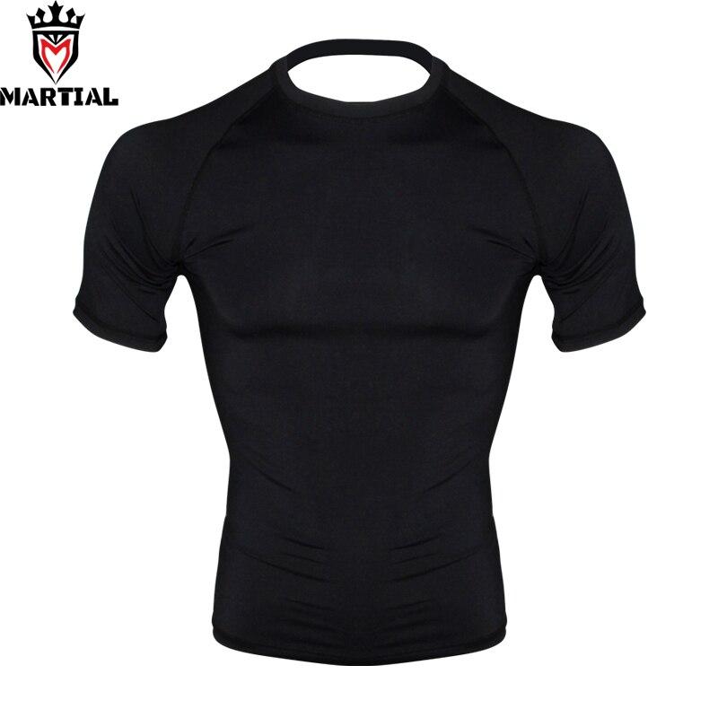 FREE SHIPPING Martial :New Arrival  Blank  Men Bjj Compression Shirt Jiu Jitsu T- Shirt Men Boxing MMA Rashguard Bjj Jersey