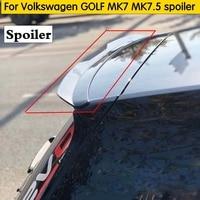 for Volkswagen GOLF MK7 MK7.5 spoiler 2014 2019 GOLF 7 GOIF 7.5 spoiler high quality glossy black painted material car rear wing