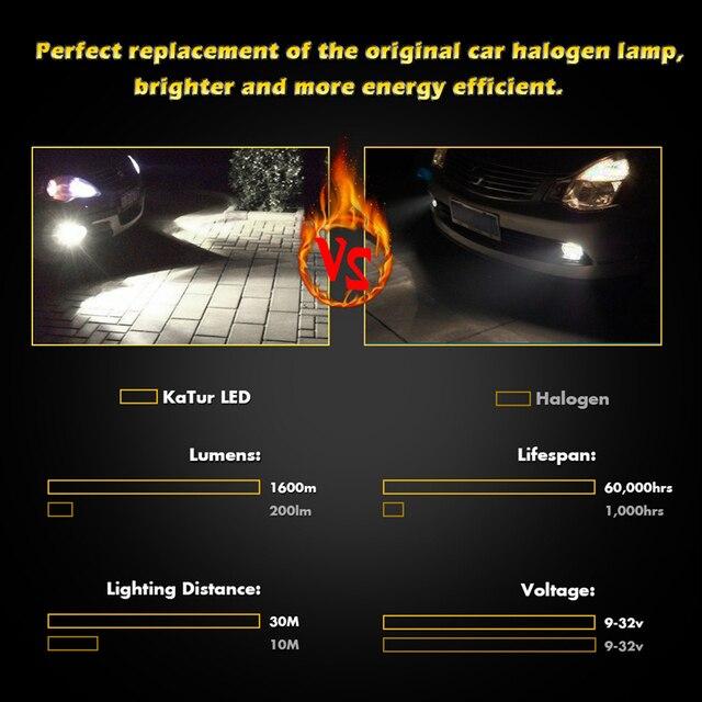 2 pièces 1600Lm H16 H11 Antibrouillards Menés 9006/HB4 9005/HB3 H1 H3 H7 H8 881 PSX24W 880 A Mené Des Lumières De Voiture Conduite Lampe CSP puce 6500K Blanc