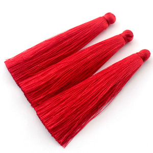 Image 2 - TEVIDA Borlas de seda para fabricación de joyas, collar, pendientes, prendas, cortinas, sombreros, 50 Uds., venta al por mayor