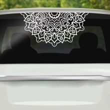 Car Window Decal Half Mandala Vinyl Wall Sticker Home Decoration Mural Removable Religion Design Poster AY1444