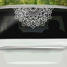 Car Window Decal Half Mandala Vinyl Wall Sticker Home Decoration Mural Removable Religion Design Poster AY1444