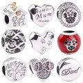 Nueva moda encanto amor cuenta 925 plata esterlina mamá cuenta Fit Pandora Pulsera Original mujeres DIY joyería