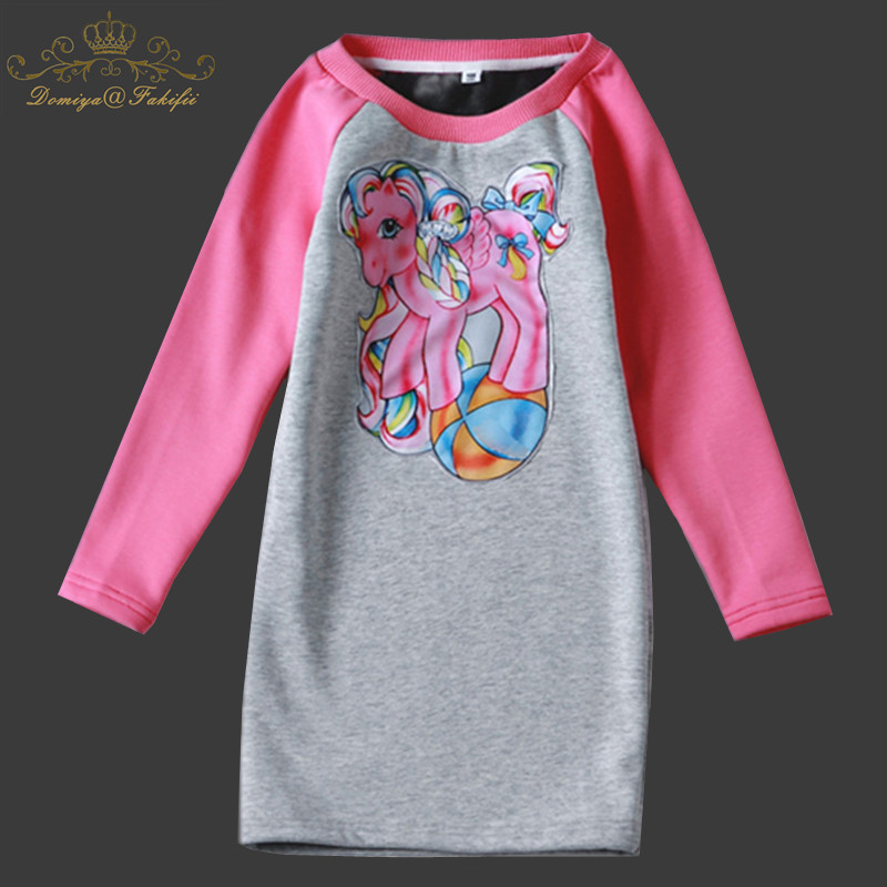 Girls Dress 2018 Brand Deer Pattern Princess Dress Autumn Style Long Sleeve Knitted Dresses for Children Clothes Girl Clothing autumn girl dress print long sleeve new brand princess dress clothes rose flower kids pattern costumes vestido clothing for kids page 1