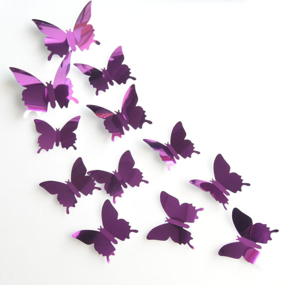 30pcs 3d Pvc multicolor Butterfly Wall Sticker Art Decal living room ...