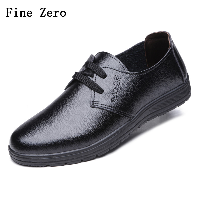 Fine Zero New Spring Autumn Men Formal Wedding Shoes Luxury Men Business Dress Shoes Men Loafers Pointy Shoes Big Size