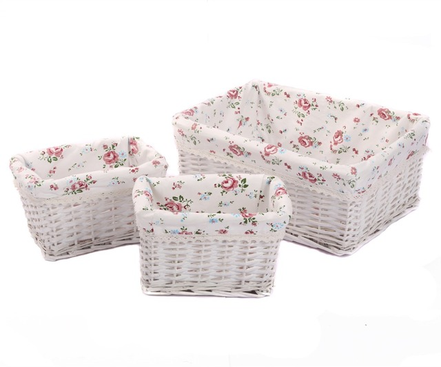 Merveilleux Kingwillow,Woven Wicker Storage Baskets U0026 Bins Rectangular Containers  Drawers Organizer Box