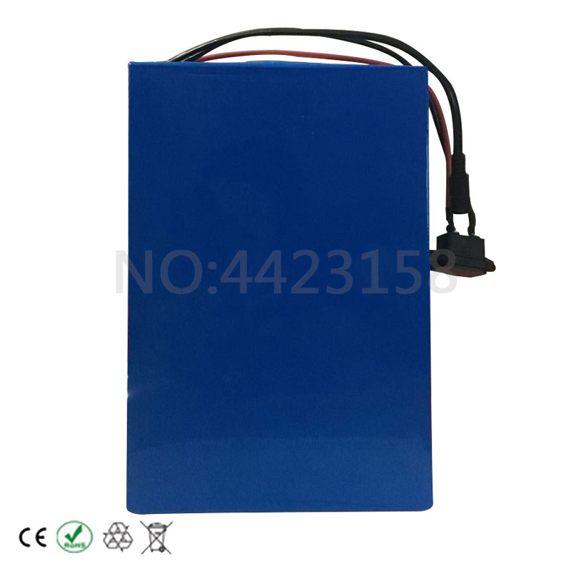 Excellent Big Capacity 48 Volt Batteries 48V 20Ah Li-ion Battery for Electric Bike with PVC case Built in 13S 30A BMS + 2A CC/CV Charger 8