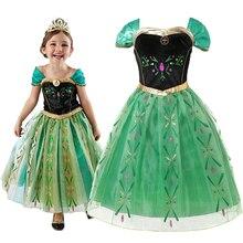 Vestido de niñas dibujos animados Cosplay Snow Queen princesa vestidos Elsa vestidos Anna disfraz bebé niños ropa tutú niños ropa