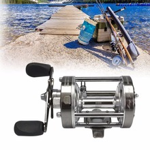 Misurelure CL70 4.2:1 Lure Fishing Reel Left-Right Optional Metal Round Drum Wheel 2+1 Ball Bearing Baitcasting Trolling Reels