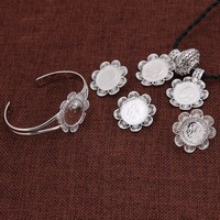 SKY talent bao New Ethiopian set Jewelry Silver Pendant Chain/Earring/Ring/Bangle African Bridal Habesha Wedding set