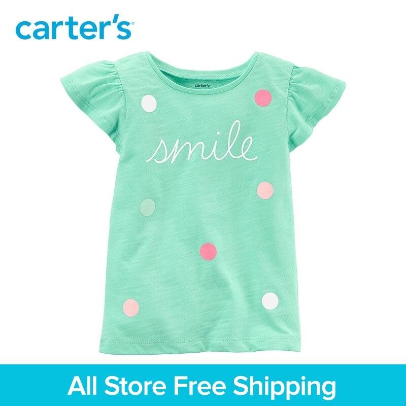 1-pièce de Carter bébé enfants enfants vêtements Fille D'été Sourire Polka points Flutter Coton Tee 253H714/273H810