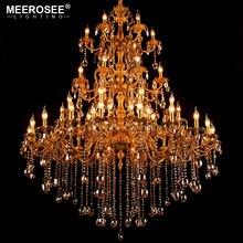 лучшая цена Large Crystal Chandelier Light Fixture Hanging Lamp for Restaurant Hotel Project Huge Lustres Luminaires Lighting