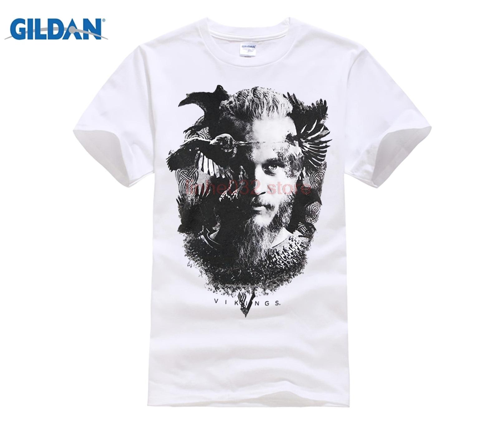 c2cc424de Mens Official Vikings TV Series Odin's Raven T Shirt Heather Grey Men T- Shirt Short Sleeve Round Neck Men O-Neck