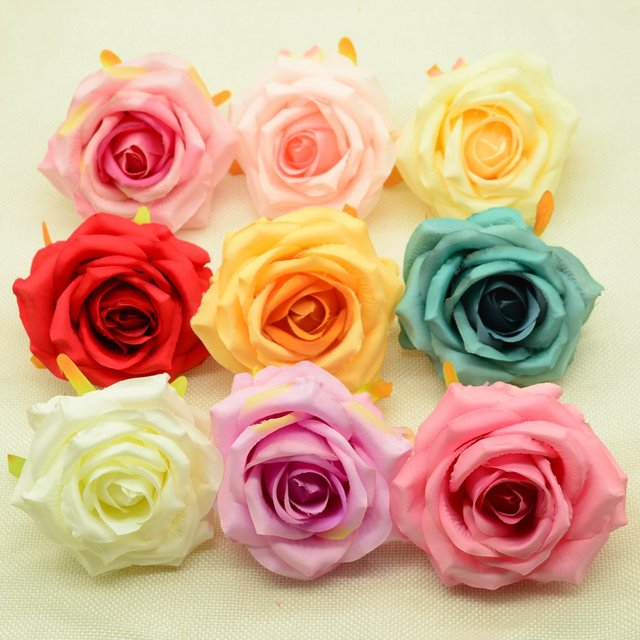 Aliexpress Buy Artificial Flowers Head Cheap For Home Wedding