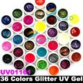 36 Colors Glitter Powder UV Gel for UV Nail Art Tips Extension Decorations SKU:USC0002