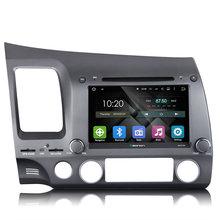 Quad-Core  Android 5.1.1  Car GPS Car DVD Player For Honda Civic (left drive)  2006~2010 GPS Navigation FM Radio Player
