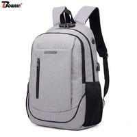 Anti Theft Lock Backpack Men Laptop 15.6 Inch Usb Charge Oxford Back Pack Male bag Large Bagpack Mochila School Bags 2019