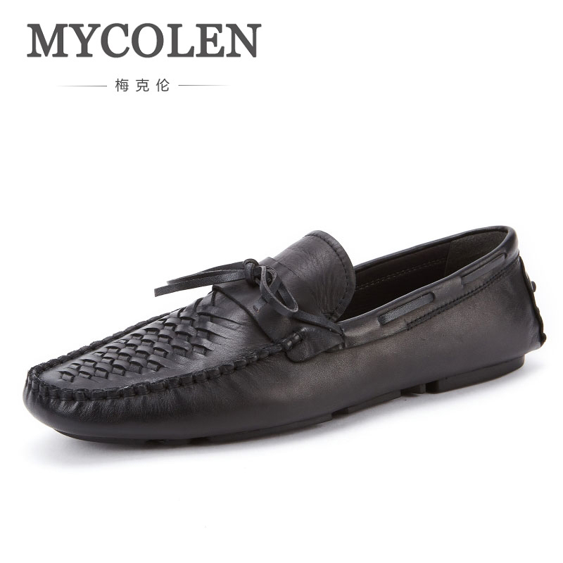 MYCOLEN Men Shoes Loafers Luxury Brand Top Fashion Breathable Casual Shoes Flat Shoes Light Soft Shoes Leather Loafers