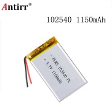 102540 1150mAh 3.7V Rechargeable Lithium Li-Polymer Batteries for LED Lights Lamps Electron