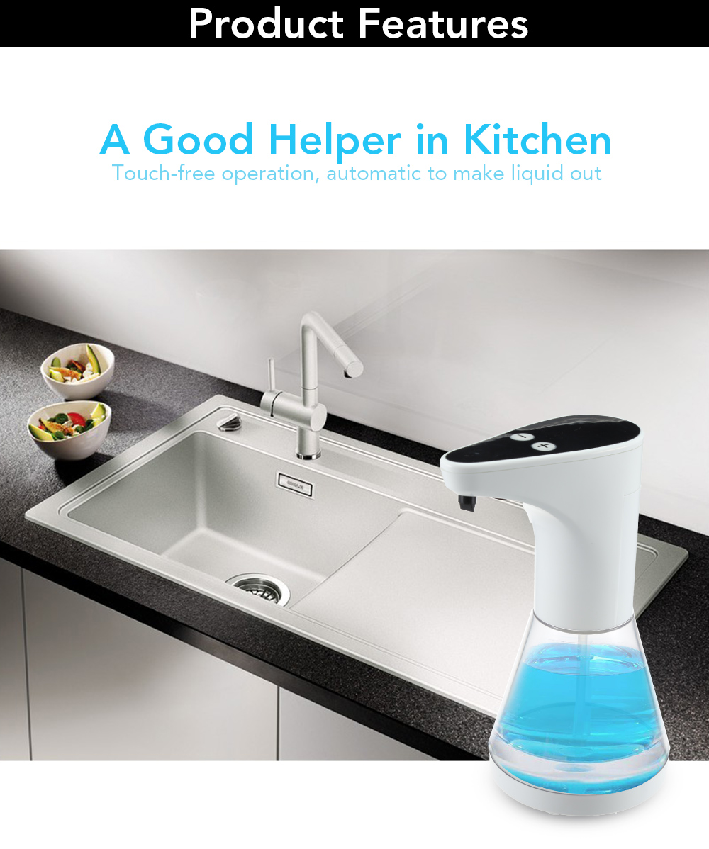 HTB1Al6Dd21H3KVjSZFBq6zSMXXaG 480ml Automatic Touchless Soap Dispenser Shower Gel, Shampoo, Washing Lotion, Liquid Soaps Sanitizer ABS Liquid Dispenser