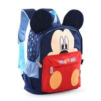 Dessin animé de Mickey Forme Maternelle Sac À Dos Enfants Sac Qualité Nylon Petits Sacs D'école pour Filles Garçons Âgés de 3-6 D'âge Préscolaire sacs
