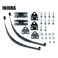 INJORA Sert Yaprak Yaylı Süspansiyon Çelik Bar için 1:10 RC Kaya Paletli Eksenel RC4WD D90 SCX10 F350