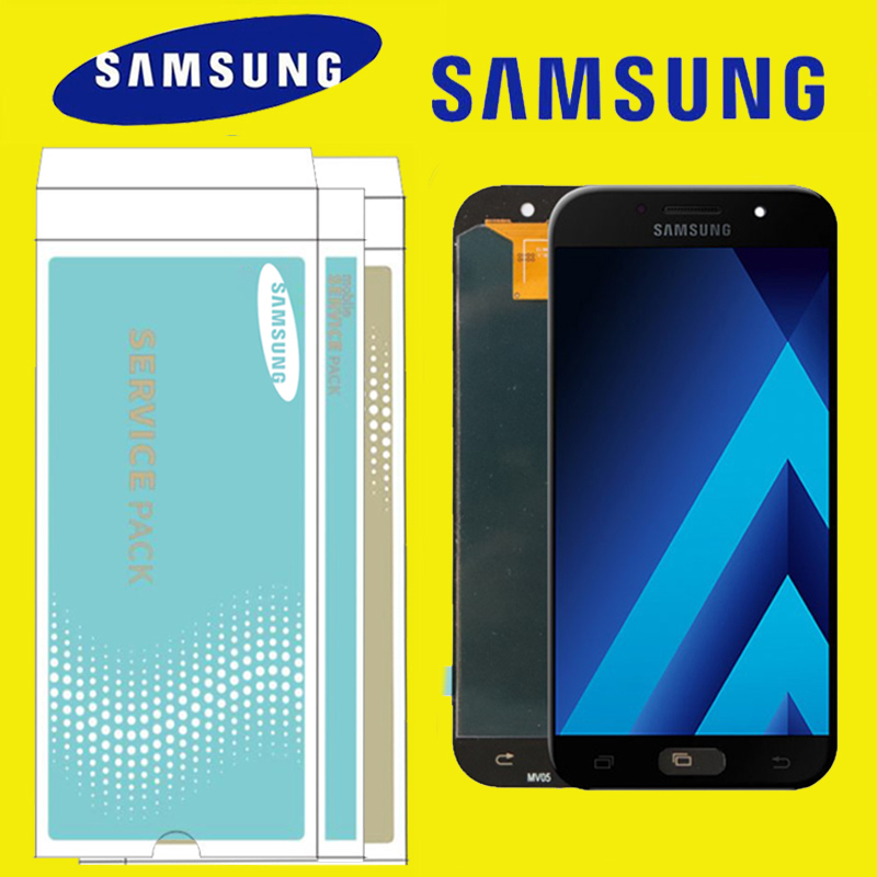 ORIGINAL 5 2 AMOLED LCD for SAMSUNG Galaxy A5 2017 A520 A520F SM A520F Display Touch