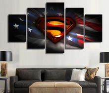Superman 5 Panel Poster Home Decoration Wall Art Pictures Canvas Painting