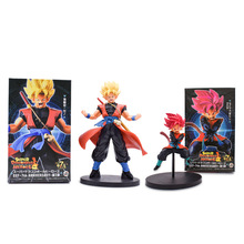 2 pcs/lot Anime Dragon Ball Super Heroes Son Goku Gohan PVC Action Figure Doll Collectible Model Toy Christmas Gift For Children ow heroes roadhog pig mako rutledge action figure collectible