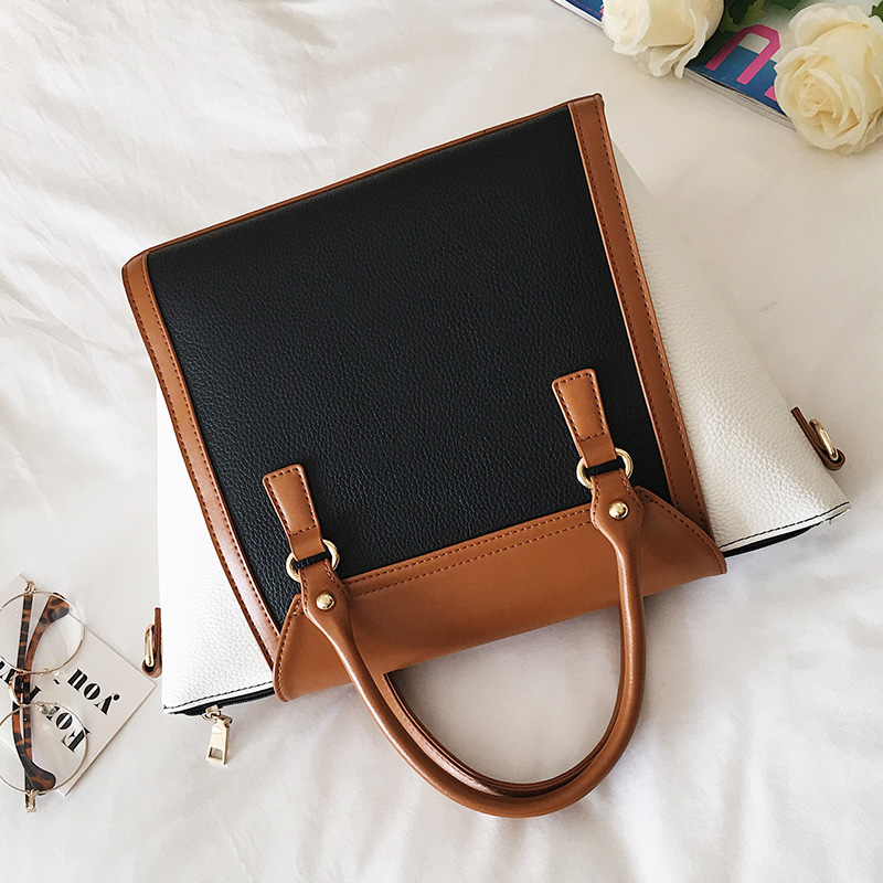 YASICAIDI Panelled Women Bag Lock Trapeze Women Totes Luxury PU Leather Handbags Designer Famous Brand Women Crossbody Bags Sac