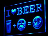 I934 I Love Beer Happy Face Bar Pub Decor Luz Sign On/Off Swtich 20 + Cores 5 Tamanhos