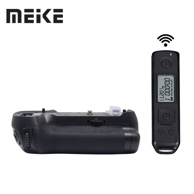Meike MK-D850 Pro Vertical Shooting Power Pack Battery Grip with 2.4G Hz Wireless Remote Control for Nikon D850 Camera meike vertical battery pack grip for nikon d5300 d3300 2 en el14 dual charger