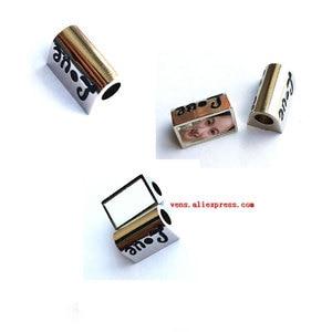 Image 3 - 승화 빈 심장 사진 구슬 금속 슬라이더 큰 구멍 5mm 유럽의 매력 뜨거운 전송 인쇄 재료 15 개/몫