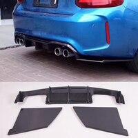 M Style Carbon fiber Bumper Rear Diffuser Fit For BMW F87 M2