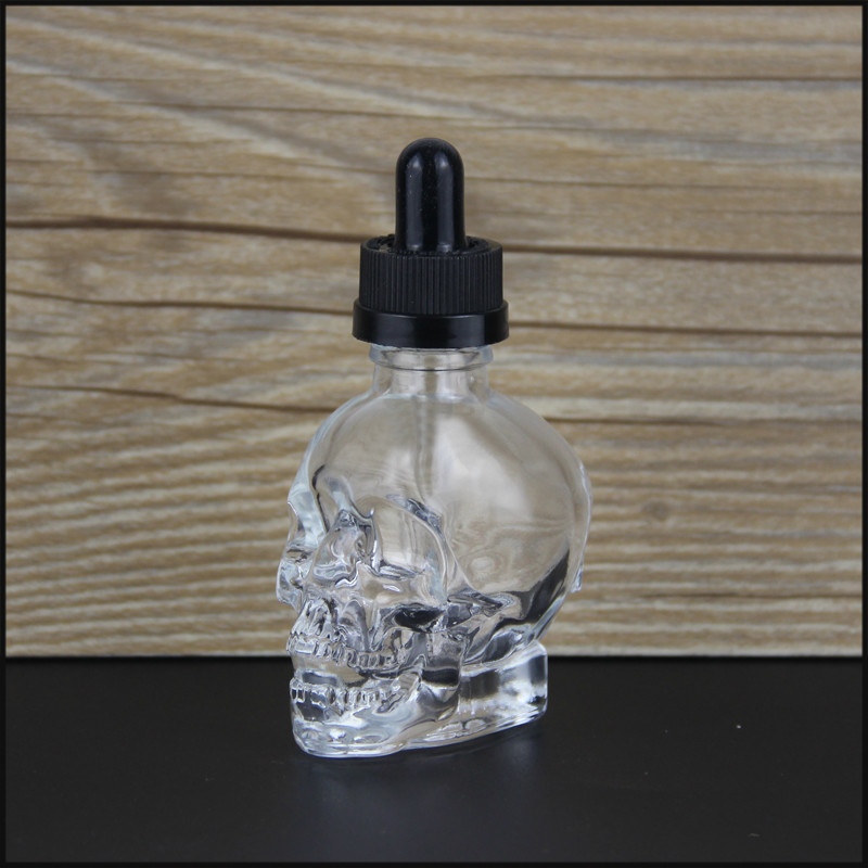 30Ml Skull Bottle Transparent Enamel Shape Glass Smoke Bottle Dropper Bottle With Can Be Filled With Essential Oil Bottle With in Essential Oil from Beauty Health