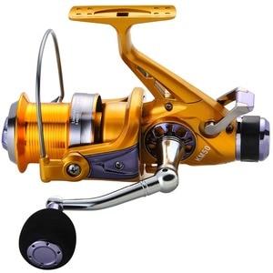Image 2 - Sougayilang Рыболовная катушка для карпа, металлическая катушка с ЧПУ, двойной тормоз, спиннинговая Рыболовная катушка, колесо для Пресноводной и морской рыбалки для путешествий