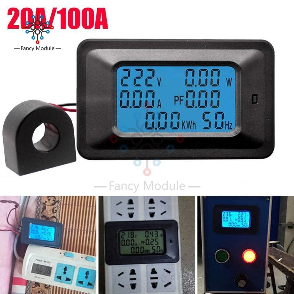 lcd, digital, ac 20a, 100a, 110v, 220v,
